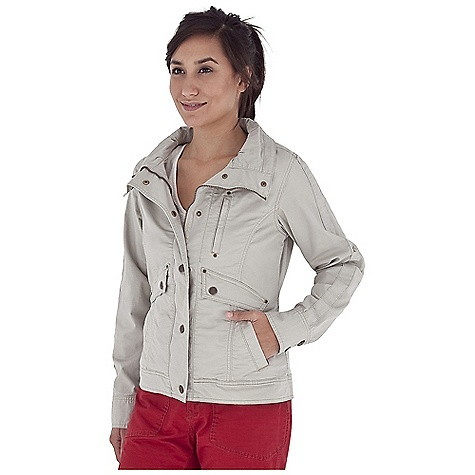 Entertainment Free Shipping. Royal Robbins Women's Kick It Jacket DECENT FEATURES of the Royal Robbins Women's Kick It Jacket 2-way zipper Snap over flap Full collar Roll-up sleeve tabs Drop-in pocket Zip secured hand pocket Zip secured chest pocket Straight hem The SPECS Regular fit 241/2in. length Fabric: Billy Goat Stretch Slub Canvas 5 oz 98% Cotton / 2% Spandex Garment washed UPF 50+ - $97.95