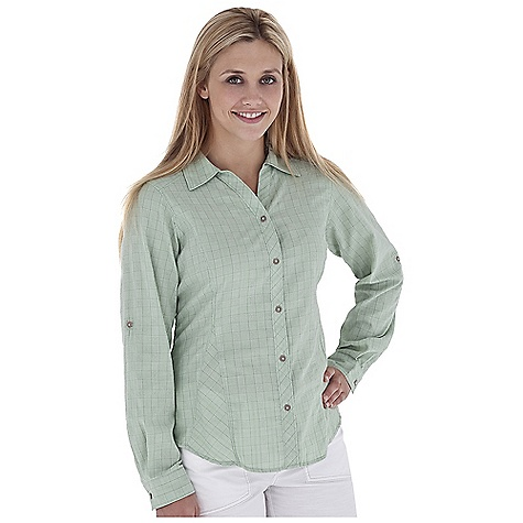 Entertainment Free Shipping. Royal Robbins Women's Kalahari L-S Top DECENT FEATURES of the Royal Robbins Women's Kalahari Long Sleeve Top Mesh lined yoke Roll-up sleeve tabs Zip secured pocket Shirt tail hem The SPECS Regular fit Hip length Fabric: Austin Plaid 3 oz 60% Cotton / 40% Coolmax Polyester Garment washed - $74.95
