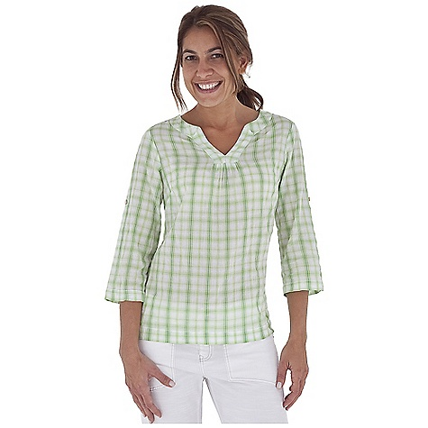 Entertainment Free Shipping. Royal Robbins Women's Peasant Plaid Pullover DECENT FEATURES of the Royal Robbins Women's Peasant Plaid Pullover Tonal stitching details 3/4 roll-up sleeve tabs Open notched v-neck Roll-up sleeve tabs Straight hem with side vents The SPECS Regular fit Hip length Fabric: Crinkle Summer Plaid 2 oz 98% Cotton / 1% Polyester / 1% Spandex Garment washed - $57.95