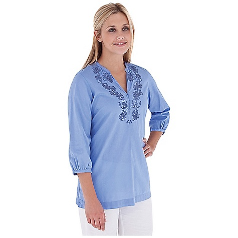 Entertainment Free Shipping. Royal Robbins Women's The Artisan 3-4 Sleeve Top DECENT FEATURES of the Royal Robbins Women's The Artisan 3/4 Sleeve Top Soft banded collar Long placket with small loop buttons Corded embroidery Straight hem with side vents The SPECS Regular fit Tunic length Fabric: Cotton Lawn 2 oz 100% Cotton Garment washed - $64.95