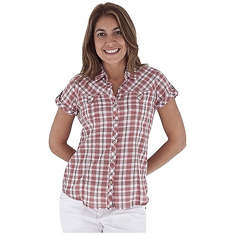 Camp and Hike Free Shipping. Royal Robbins Women's Peasant Plaid S-S Top DECENT FEATURES of the Royal Robbins Women's Peasant Plaid Short Sleeve Top Tonal stitching details Soft camp collar Chest pocket with button closure Shirt tail hem The SPECS Regular fit Hip length Fabric: Crinkle Summer Plaid 2 oz 98% Cotton / 1% Polyester / 1% Spandex Garment washed - $57.95