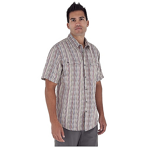 Entertainment Free Shipping. Royal Robbins Men's Block Party S-S Top DECENT FEATURES of the Royal Robbins Men's Block Party Short Sleeve Top Tonal stitching details Dual chest pockets with snap closure Triple needle stitching details on front and back yokes Angled back yoke set on cross grain Bias detail at center back collar Shirt tail hem The SPECS Regular fit Fabric: 3.75 oz 60% Cotton / 40% Polyester - $57.95