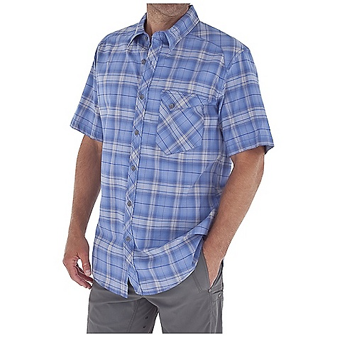 Entertainment Free Shipping. Royal Robbins Men's Paragon Plaid S-S Top DECENT FEATURES of the Royal Robbins Men's Paragon Plaid Short Sleeve Top Drop-in chest pocket with flap and snap closure Angled back yoke set on bias Bias detail at center back collar and yoke Shirt tail hem The SPECS Regular fit Fabric: 3.75 oz 100% Cotton - $54.95