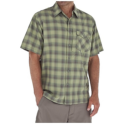 Entertainment Free Shipping. Royal Robbins Men's Slickrock Plaid S-S Top DECENT FEATURES of the Royal Robbins Men's Slickrock Plaid Short Sleeve Top Zip secured chest pocket Chest pocket with button closure Straight hem with side vents The SPECS Relaxed fit Fabric: Slickrock Plaid 2.25 oz 98% Nylon / 2% Polyester UPF 30+ - $61.95