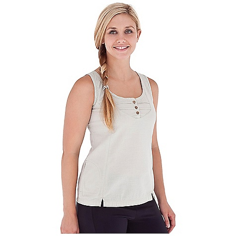 Surf Royal Robbins Women's Cool Mesh Tank DECENT FEATURES of the Royal Robbins Women's Cool Mesh Tank Zip secured pocket Button placket neckline Front vent at hem Straight hem The SPECS Regular fit Standard length Fabric: Cool Mesh 3.8 oz 94% Cotton / 6% Organic Cotton Garment washed - $44.95