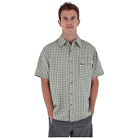 Entertainment Free Shipping. Royal Robbins Men's Echo Canyon Plaid S-S Top DECENT FEATURES of the Royal Robbins Men's Echo Canyon Plaid Short Sleeve Top Back ventilation at yoke Mesh lined yoke Zip secured chest pocket Drop-in chest pocket with hook and loop closure Shirt tail hem The SPECS Relaxed fit Fabric: Echo Canyon Plaid 4 oz 71% Polyester / 29% Nylon UPF 40+ - $61.95