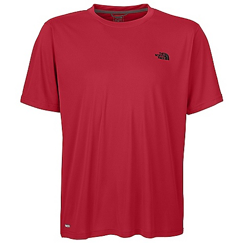 The North Face Men's Velocitee Crew DECENT FEATURES of The North Face Men's Velocitee Crew Soft, ultralight fabric Pop logos The SPECS Average Weight: 3.17 oz Center Back Length: 27.75in. 93 g/m2 (2.7 oz/yd) 100% polyester Velocitee interlock knit This product can only be shipped within the United States. Please don't hate us. - $19.95