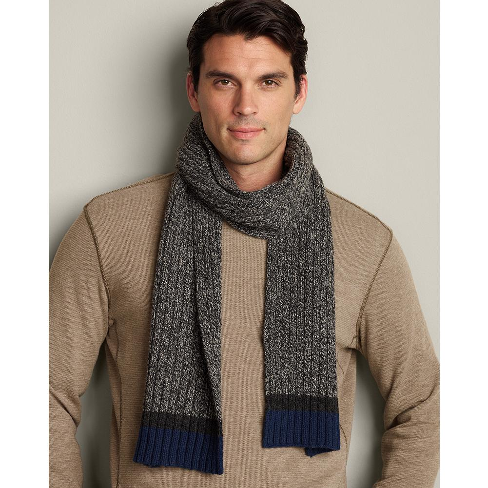Fitness Eddie Bauer Wool Ragg Yarn Scarf - This supersoft wool-blend knitted scarf has a rich texture, finished with contrasting stripes. - $19.99