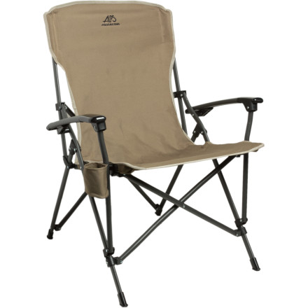 Camp and Hike When you doze off next to the campfire, feel free to blame the ALPS Mountaineering Leisure Chair. This sturdy butt-recovery device folds down into a compact and travel-friendly size, but that doesn't mean that ALPS compromised on comfort. Stash a cold one in the cup holder and kick back after a day of adventure. - $48.97