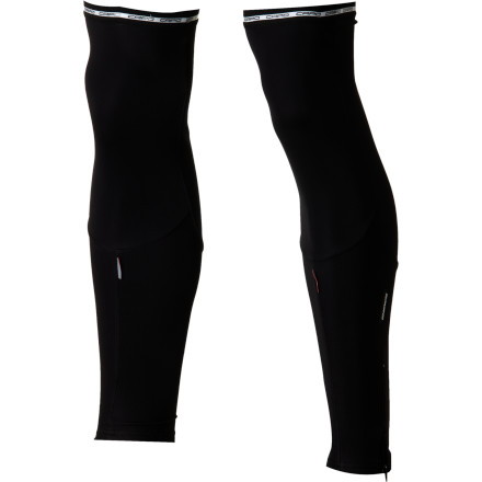 Fitness When you're going out for a long training ride during a transitional season, the more versatile that your clothing is, the better. After all, conditions have a tendency to change in an instant. Luckily, though, the Capo Roubaix Knee Warmers allow you to convert your cold-weather shorts, like the Capo Pursuit Roubaix Bib Shorts, into warming, soft, and breathable full-length tights. Capo's leg warmers rely on the winter-weight Thermo Roubaix fabric in order to provide comfort in cool- to cold-weather conditions. Woven with a hollow core, the stretchy microfiber is brushed on the inside as to capture the warmth that your body creates in the soft, fleece-like inner layer. And, though, the warmth aspect is an important quality, the moisture-wicking elements is equally paramount. Think about it, wet skin isn't warm skin. So, by pulling sweat away from your body for a rapid evaporation, your warmth is guaranteed during hard exertions, as well. To eliminate seams over the front and back of the knees, the warmers have been cut into a multi-panel design. The three-panel design also allows the warmers to move with your legs as you pedal, so bunching doesn't occur across the back of your knees. The top hems have elastic grippers on the outside, which link up with the lower grippers of bib shorts in order to keep everything in place without uncomfortable pinching or constriction. And with this system, it truly feels like you're wearing tights rather than multiple pieces. Additionally, the lower hems feature internal grippers, and 15cm zips simplify entry and exit of the warmers. You'll also find reflective elements throughout the warmers that will increase your visibility to motorists in low-light conditions. The Capo Roubaix Leg Warmers are available in the sizes Small/medium and Large/x-large and in the colors Black, Navy, Red, and White. Please note that Capo suggests that the leg warmers are most effectively worn in temperatures ranging between 45 to 55 degrees Fahrenheit. - $48.97