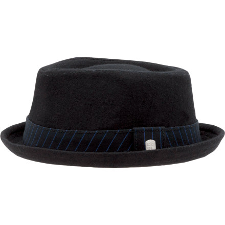 Like any finely detailed part of your wardrobe, the Coal Considered Parker Fedora stands out with a smooth finish and intricately crafted feel youll crave the moment it leaves your head. As part of Coals considered line, this shallow-fitting fedora uses striking Melton wool and rocks a pinstripe cotton lining thats as refined as it is rockstar. - $19.98