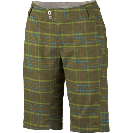 Camp and Hike It's your weekend, so slip on the Columbia Women's Saturday Trail Stretch Plaid Short and get out of town until you run out of sunlight. Trekking into a wilderness area or climbing a new route with help from this short's stretchy, breathable fabric soothes out the stress of any work week. - $43.96