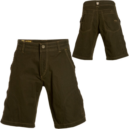 Camp and Hike Whether your wandering takes you to the north, south, east, or west, relax in the knowledge that your K 1/4hl Rambler Shorts have been this way before and know which way to go next. K 1/4hl made these comfy bottoms with a blend of cotton and nylon so that they breathe well, wick sweat, and dry quickly when wet. A side-mounted cell-phone pocket keeps your telecommunication device handy in case you get homesick and need to check in with your mom for some advice. - $58.95