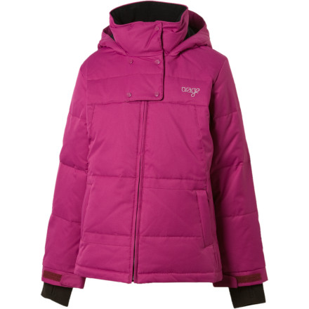 Snowboard Your gal doesn't hold back when it comes to winter fun. Suit her up in the Orage Girls' Sundowner Jacket and let her loose on the mountain. Durable, waterproof breathable fabric keeps her dry, while down insulation melts away the cold. - $53.99