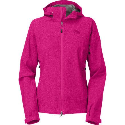 Fitness The durable, lightweight The North Face Women's Burst Rock Jacket with fully adjustable hood goes with you anywhere for on-the-spot waterproof, breathable weather protection. With 2.5L HyVent stretch nylon shell, this jacket is made to move down the trail, up the wall, or into the woods' and its exceptional softness and breathability obviates the need for a lining for ultra-lean packability. - $179.95