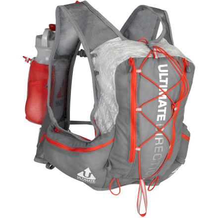 Fitness Run like ultramarathoner Scott Jurek, or at least stay super-hydrated, with the Ultimate Direction SJ Ultra Hydration Vest. Inherently stable, the vest design eliminates bounce; and it holds water bottles in front for easy quantity checks and access and accommodates a reservoir in back for endurance runs. Bombproof, featherweight Cuben fiber and power mesh construction keeps everything together in a lean, low-profile package made for speed. A total volume of about 550 cubic inches means you can take along a light layer, gels, or extra hydration on those epic outings. - $87.47