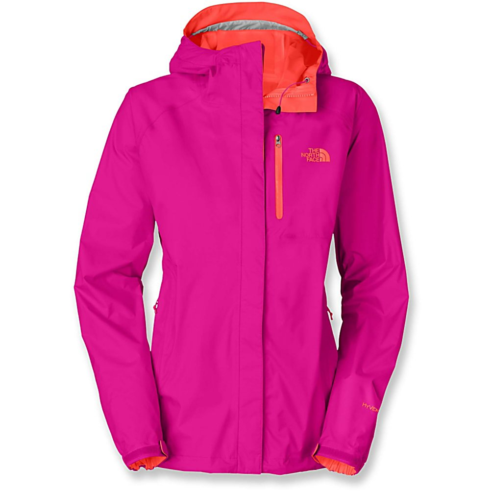 Ski The North Face Super Venture Womens Jacket - The North Face Super Venture Jacket for women has added features like a zippered chest pocket in a contrast color that accents the look. The North Face Super Venture rain jacket provides perfect coverage for unexpected weather changes. The Super Venture Jacket will complete your need for protection as a additional layer or worn alone. Giving you a flattering and shapely silhouette along with the protection you have come to expect from north Face. Features: Hem cinch cord. Exterior Material: Nylon, Taped Seams: Critically Taped, Waterproof Rating: 17,600mm, Breathability Rating: 17,600g, Hood Type: Fixed, Pit Zip Venting: Yes, Pockets: 1-3, Hood: Yes, Warranty: Lifetime, Use: Outdoor, Battery Heated: No, Type: Softshell, Cut: Regular, Length: Medium, Waterproof: Moderately Waterproof (5000mm-19,999mm), Breathability: Very High Breathability (>15,001g), Cuff Type: Velcro, Cinch Cord Bottom: Yes, Insulator: Yes, Model Year: 2013, Product ID: 301805, Shipping Restriction: This item is not available for shipment outside of the United States. - $130.00