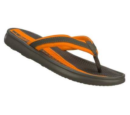 Surf Keep fun summery style within reach with the SKECHERS Cali Rumblets - Beauty Closet sandal.  Soft fabric and synthetic upper in a sporty flip flop thong sandal with stitching accents and comfort sole. - $38.00