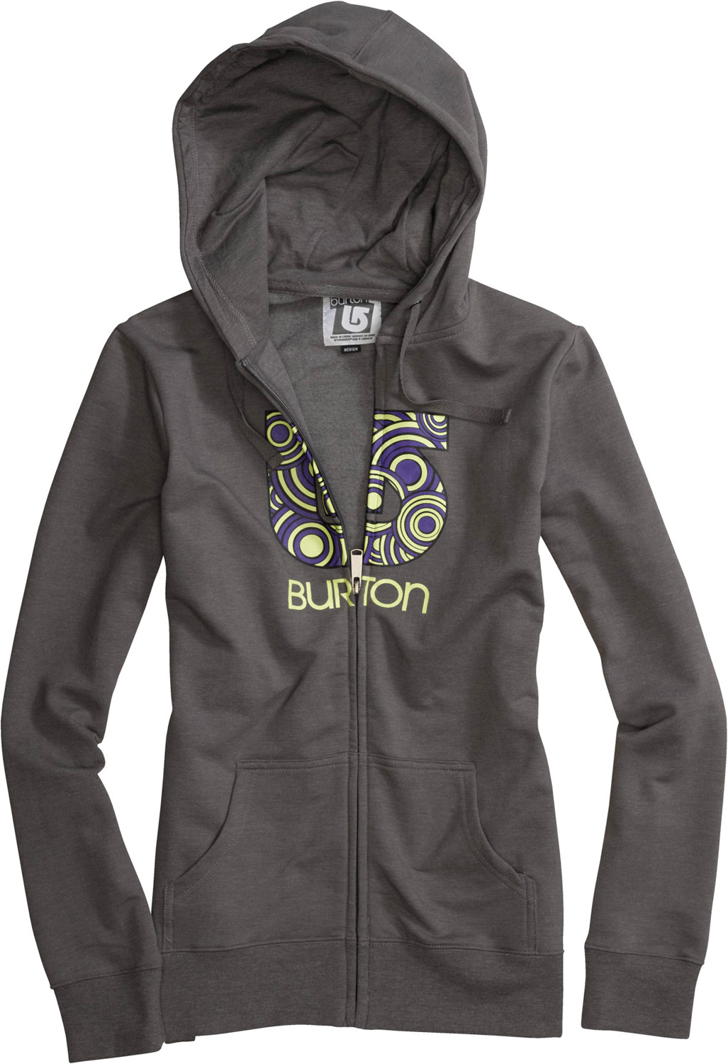 Snowboard Key Features of the Burton Circle Process Basic Fullzip Hoodie: 85% Cotton, 12% Polyester, 3% Spandex, 280G Fleece Screen Print at Chest Regular Fit - $55.00