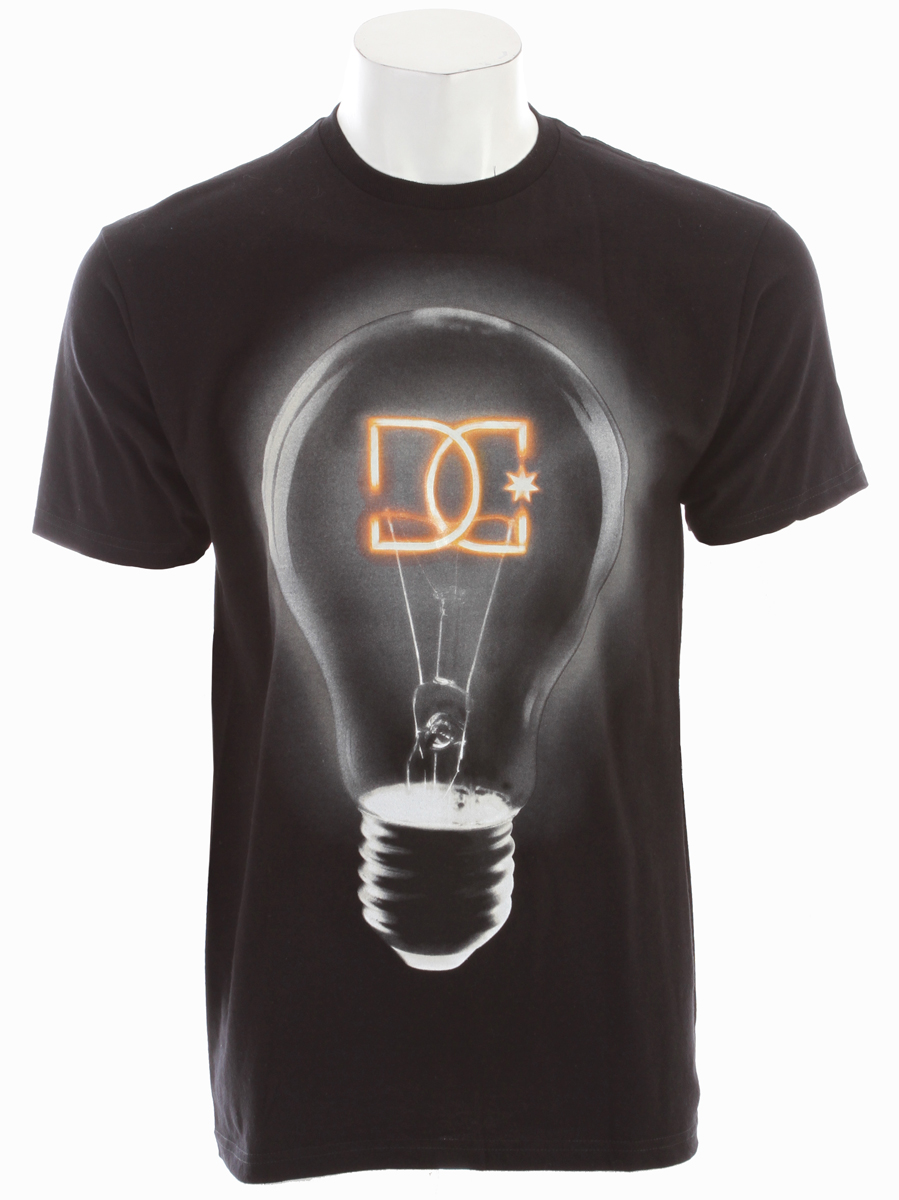Skateboard Share your insights in the Bright Idea BY, a standard-fit cotton T-shirt that features a glow-in-the-dark ink graphic.Key Features of the DC Bright Idea T-Shirt: Standard Fit Graphic Printed with Soft-hand Ink 100% Cotton Imported - $22.00