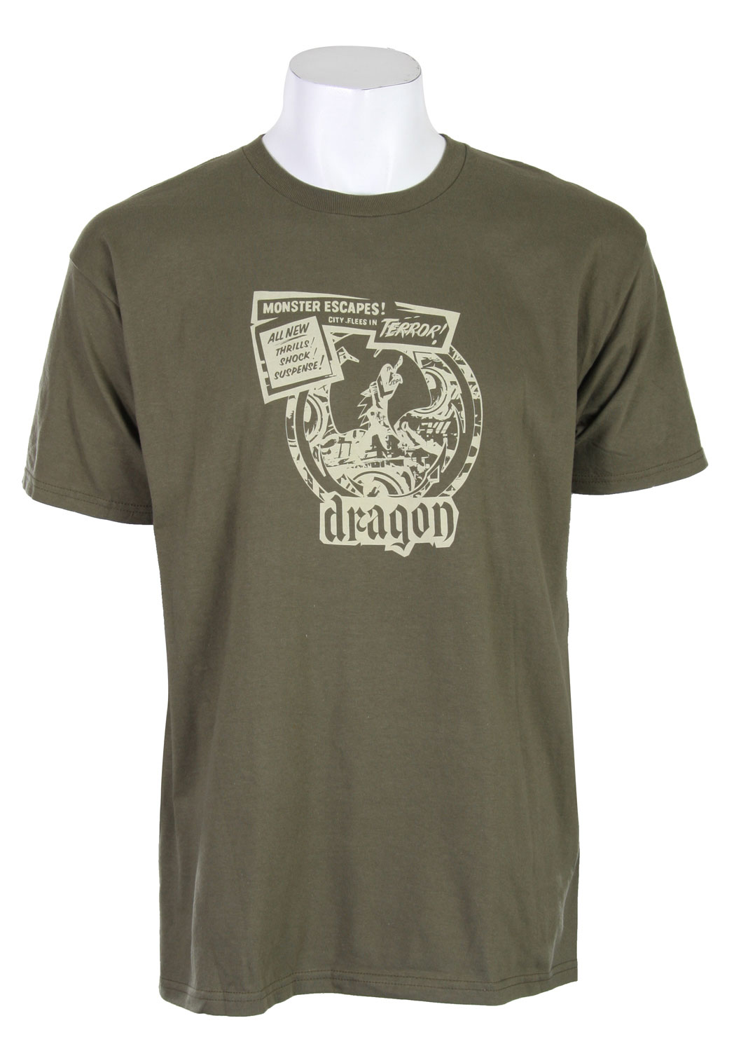 Key Features of The Dragon Pulp Hero T-Shirt: Regular Fit Crew Neck Short Sleeve - $10.95