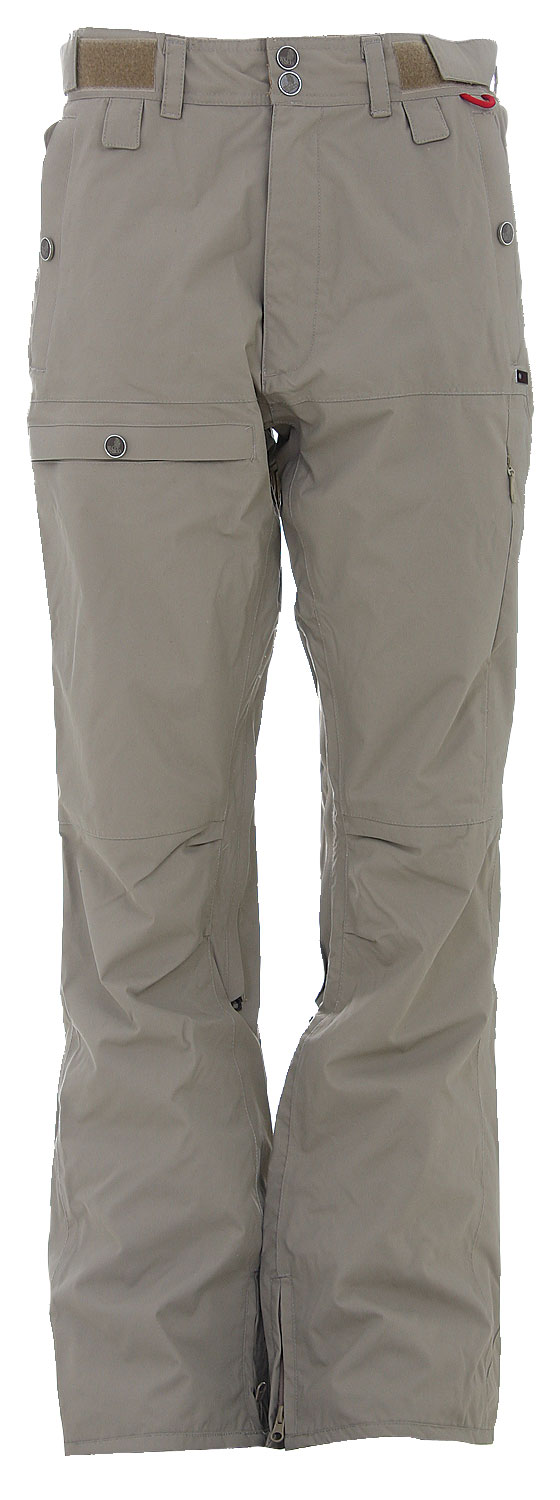 Snowboard Blending slim fit and rocker stance, the Foursquare Smith Snowboard Pant is an original breed.Key Features of The Foursquare Smith Snowboard Pant: 8,000mm Waterproofing 8,000g Breathability Oxford Nylon Slim Fit Inseam Vents Hidden Thigh Pocket Articulated Knees - $58.95