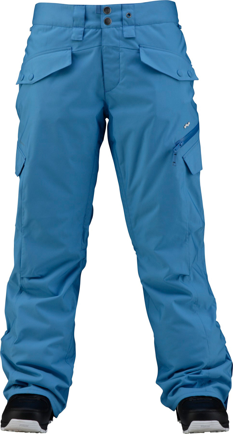 Snowboard Key Features of the Foursquare Fuji Snowboard Pants: 10,000mm Waterproof 10,000g Breathability Insulated series Material 2L MicroShield Polyester MicroTwill Fully taped seams 60g insulation Pull tight hem adjust Waterproof zippers Belt loop ticket ring Internal adjustable waistband - $59.96