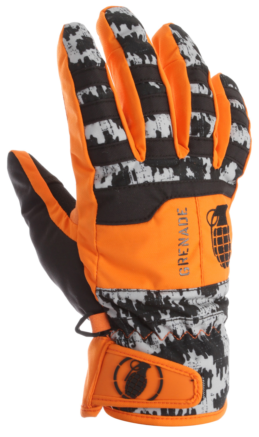 Snowboard Key Features of the Grenade Fragment Gloves : Nylon body Lorica suede palm Hipora breathable waterproof insert Primaloft insulation Velcro wrist closure Embroidered & screen printed graphics Wicking treatment Primaloft - $40.95