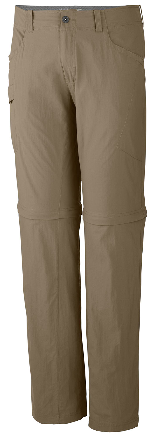 "Camp and Hike Light and quick to dry, this convertible hiking pant delivers. The Mesa seems like an old favorite from the moment you put it on. A full-length inseam gusset aids mobility and an extra-wide, soft waistband keeps you comfortable while packing in. Zip off the legs for shorts with an 11"" inseam. UPF 50 fabric blocks out UV rays.* Mesh drain panels in pockets for river crossings and spontaneous swims * Zippered side pocket, with key clip * Convert to shorts with an 11"" inseam * Full-length inseam gusset for mobility * DWR finish repels water * Body Fabric: Canyon Twill * Body Fabric Content: 100% nylon * Inseam: 30,32,34"" / 76 cm * Apparel Fit: Relaxed * Weight: 10.6 oz. / 299 g - $48.95"