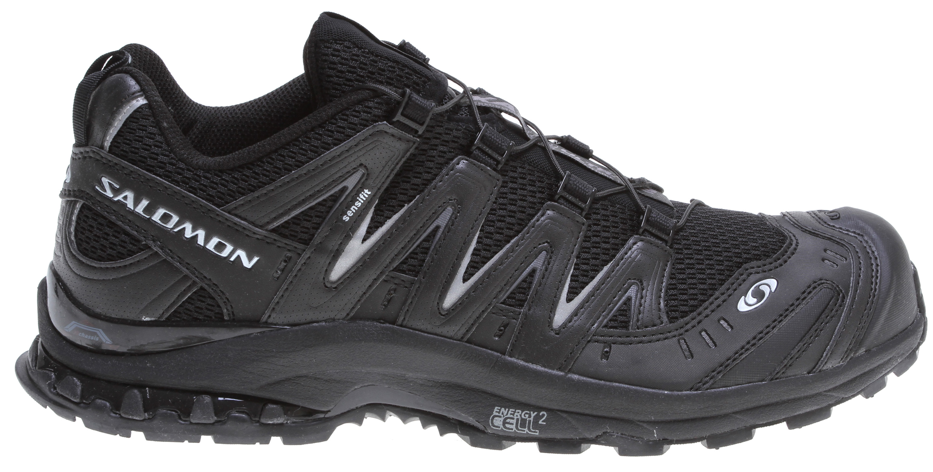 Camp and Hike Light, durable, and stable on the most demanding trails, the XA Pro ED Ultra 2 has a streamlined profile, improved durability and aggressive lugged outsole geometry.Key Features of the Salomon XA Pro 3D Ultra 2 Hiking Shoes: Weight: 360G / 12.7 oz (size 7), 376G / 13.3 oz (size 9) Quick drying breathable mesh Asymmetrical lacing Sensifit Lace Pocket Protective Rubber toe cap Mud guard Quicklace Outsole: Non marking running contagrip Chassis: 3D advance Chassis Sock Liner: Molded EVA, EVA Shaped footbed, Ortholite Midsole: Dual density EVA, Molded EVA, Energy cell 2, Pronation control Midsole Height: 11mm / 21mm - $98.95
