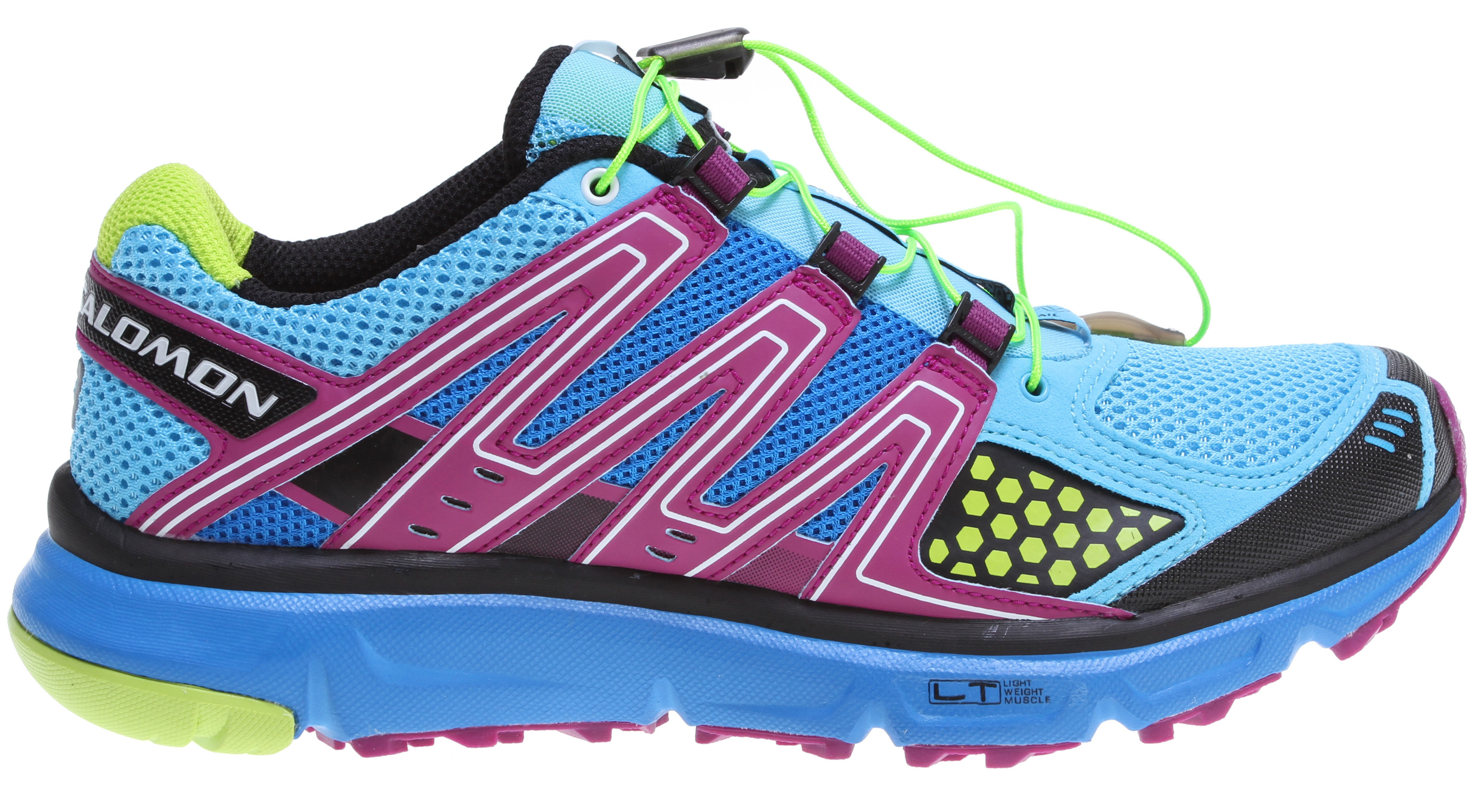 Camp and Hike If you are trail running in road shoes, this should be your next shoe. Completely designed for women.Key Features of the Salomon XR Mission Hiking Shoes: Weight: 268G / 9.5 oz (size 7) Women's specific design Friction free lace eyelet Lace pocket Protective TPU toe cap Sensiflex Quicklace Optimized fit for women Asymmetrical Sensiflex Asymmetrical SensiFit Outsole: Non marking contagrip, Contagrip LT, Contagrip A, OS Tendon Chassis: Light weight muscle Sockliner: Ortholite Midsole: Molded EVA, Dual density EVA, Compressed EVA, WSR Technology Midsole Height: 9mm / 20mm - $87.95