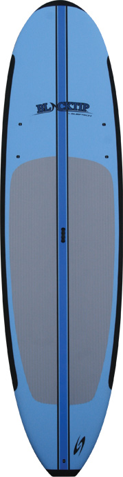 Wake The ultimate value in a soft board. Constructed with the beginner in mind, but with a great shape anyone can enjoy. We added extra volume to the boards to make the boards paddle easy, a stiffer core for speed, and a slick flat bottom to make the board stable and easy to paddle. Do not worry about slamming on to a hard board surface, get up on a Blacktip! Performs well in whitewater. Comes with an Adjustable Aluminum Paddle. Updated shape for 2013 includes single concave to 'vee' on the bottom for increased control, and smoother progressive rocker for improved paddling efficiency and performance. Multiple eyelets for webbing.Key Features of the Surftech Blacktip Paddleboard: High density foam nose, tail and rail bumpers for added durability Subtle 'rocker' to keep the nose above water Wide standing area for added stability Ergonomic easy carry handle Soft polyethylene foam deck and slick bottom for easy glide Double stringer system for added strength Ankle / vest leash attachments Slight tail 'rocker' for smooth glide Removable fins - $830.00