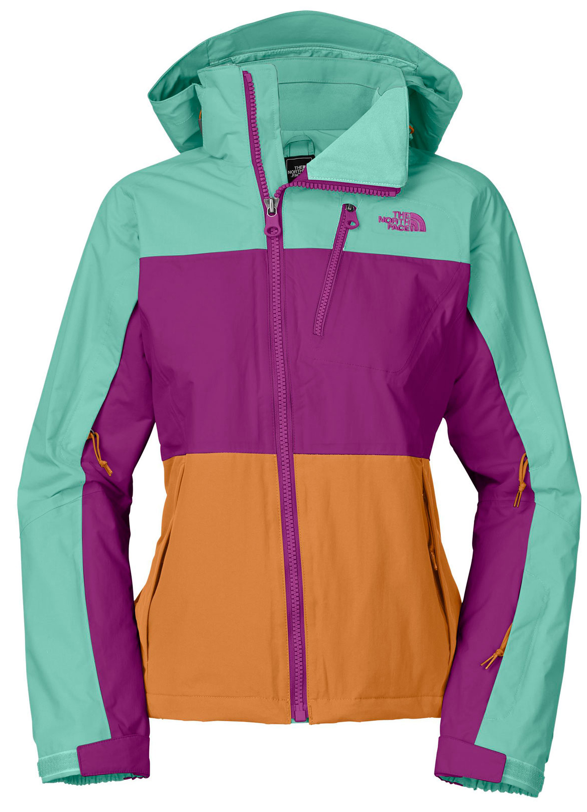 "Ski Perennially a skier's favorite, the waterproof, breathable, insulated Kizamm blends functional details such as thermal-mapped Heatseeker insulation, fully taped seams and an adjustable fixed hood with bold colorblocking that's sure to stand out on the mountain. Key Features of The North Face Kizamm Ski Jacket: Avg Weight: 950 g (33.51 oz) Center back: 25.5"" Fabric: shell: HyVent 2L plain weave Lining: taffeta Insulation: 100 g/80 g Heatseeker Adjustable fixed hood Pit-zip vents Napoleon zip pocket Handwarmer zip pockets Wrist accessory pocket with goggle cloth Internal media security pocket Snap-back powder skirt with elastic gripper Internal goggle pocket Adjustable hem system Hook-and-loop adjustable cuffs - $153.95"