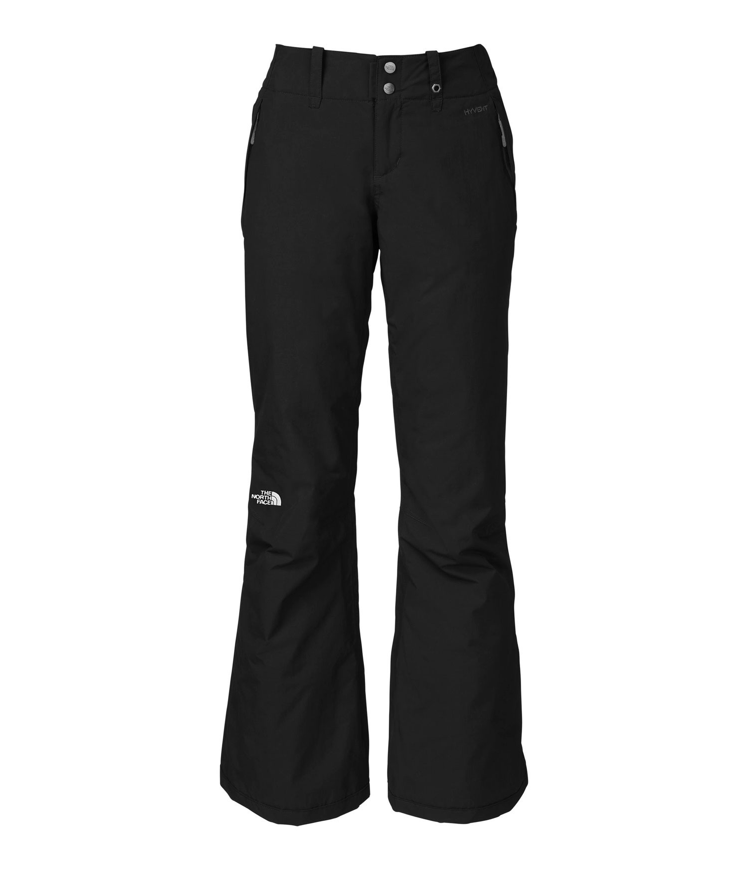 "Ski A waterproof, breathable pant that's designed for no-nonsense performance on the mountain; Heatseeker insulation and fully taped seams keep you warm and dry on the lift. Key Features of The North Face Sally Ski Pants: Avg Weight: 600 g (21.16 oz) Inseam: 32"" Fabric: shell: HyVent 2L plain weave Lining: taffeta Insulation: 60 g Heatseeker Handwarmer zip pockets Back pockets Articulated knees StretchVent gaiter with gripper elastic Reinforced cuffs Chimney Venting system Snap gusset hem - $83.95"
