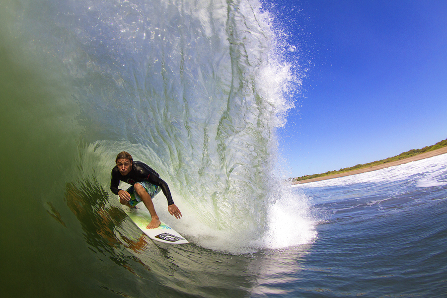 Surf pro surfer Alan Stokes in Central America.