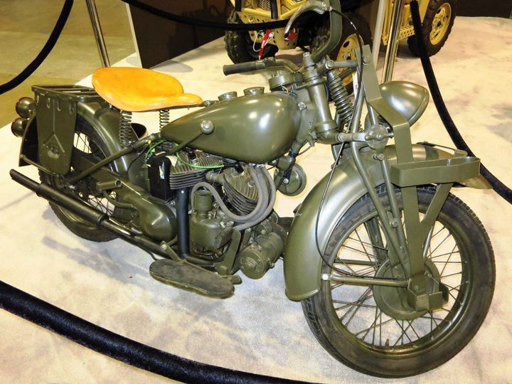 Auto and Cycle 1942 Indian Model 741B Army model on loan from the National Motorcycle Museum.