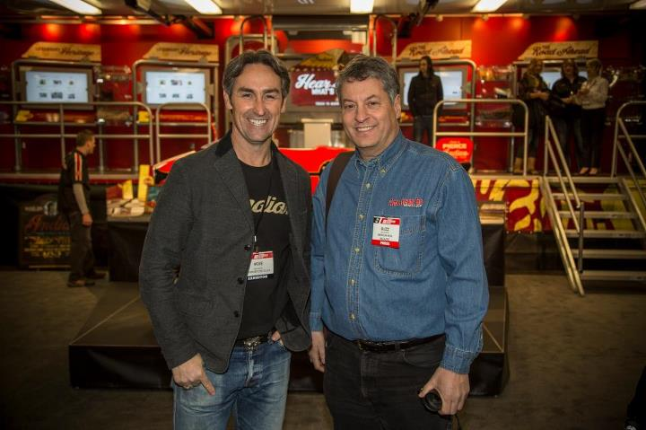 Auto and Cycle Mike Wolfe American Picker with Buzz from American Iron Magazine - World's Best Selling Harley Magazine