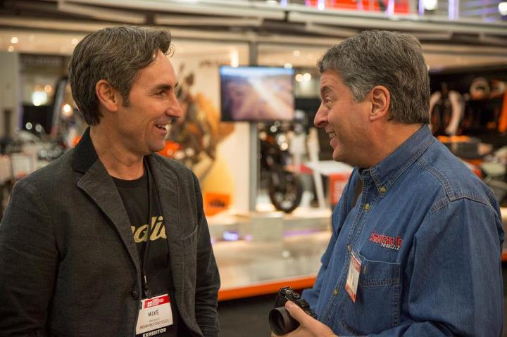 Auto and Cycle Mike Wolfe American Picker chatting with American Iron Magazine - World's Best Selling Harley Magazine
