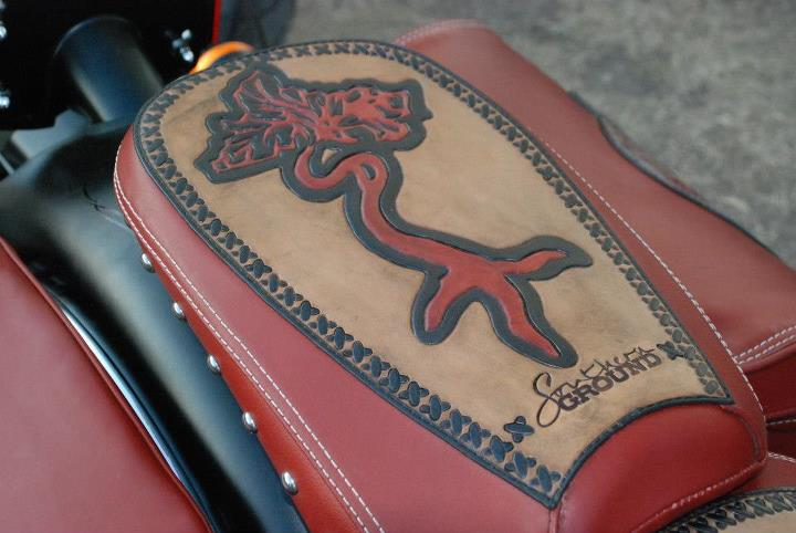 Auto and Cycle More custom leather work from Southern Hide Leather artistry