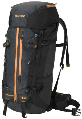 Camp and Hike A lightweight, midsized pack designed to protect your gear from the harshest conditions. Rugged 210- and 420-denier nylon fabrics hold up to seasons of abuse. A storm collar with top compression strap wards off snow and rain. Duffel-style zipper provides easy access to the interior for hassle-free loading and unloading. Removable waistbelt and dynamic-flex suspension system. Lash points on front and lid. Molded back panel. Removable lid with zippered pocket. Dual ice-axe loops and mesh water-bottle pockets. Hydration compatible. Imported.Capacity: 2,750 cu. in./45 liters.Weight: 3 lbs. 4.6 oz.Color: Dark Granite. - $169.00