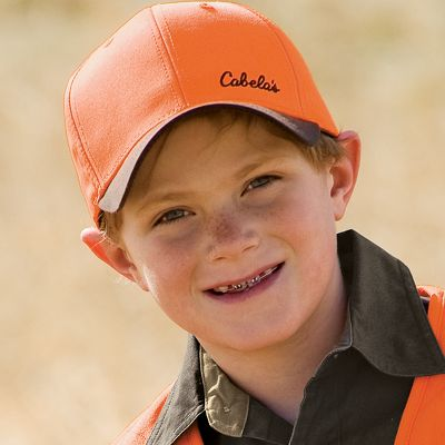 Hunting Make sure your youngsters are dressed properly before heading into the field for the first time. Cap has a blaze orange acrylic crown and a waxed cotton bill. One size fits most.Color: Blaze/Brown. - $14.88