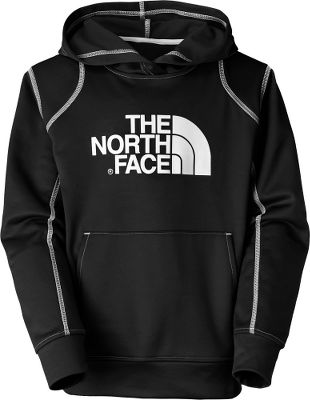 The iconic TNF logo will make this versatile hoodie his first choice for everyday warmth and cool-weather outdoor comfort. Made of 100% polyester jersey-faced fleece with a UPF rating of 50 for sun protection. Kangaroo handwarmer pocket. Screen-printed Half Dome logo on the chest. Contrast-color overlock stitching on seams and sleeves. Self-fabric cuffs and hem. Imported. Sizes: XXS-XL. Colors: Nautical Blue, Scallion Green, TNF Black/TNF Black. Size: Small. Color: Scallion Green. Gender: Female. Age Group: Kids. Material: Fleece. Type: Hoodies. - $50.00