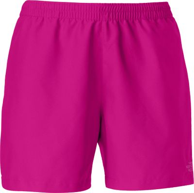 Fitness These shorts feature a UPF rating of 50 in a quick-drying, durable fabric with a feather-soft touch. The relaxed fit features a slide back for comfort and a full elastic waist with internal drawcord. Zippered pocket on back. 100% peached polyester is treated with a durable water-repellent finish. Imported. Inseam: 5. Sizes: S-XL. Colors: TNF Black, Mojito Green, Ion Blue, Fuschia Pink. Size: XL. Color: Mojito Green. Gender: Female. Age Group: Kids. Material: Polyester. - $35.00