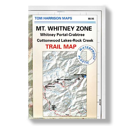 Entertainment Durable, waterproof trail map covering the Mt. Whitney Zone--from Whitney Portal to Crabtree and Cottonwood Lakes to Rock Creek - $9.95