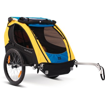 Ski A versatile way to include your kids on your adventures, this dependable bike trailer seats 1 or 2 children, and converts into a stroller, jogger or ski trailer with additional conversion kits. - $291.83