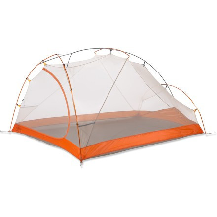Camp and Hike The Marmot Eclipse 3P tent is simple and sleek with a narrow design and bullet-nose front entry. It is low profile even for 3 people while offering ample leg and head room. - $319.93