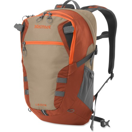 Camp and Hike The comfortable Marmot Ledge daypack is built tough to handle all the abuse you can dish out. It is equally at home whether you're on campus, commuting or camping out. - $53.93