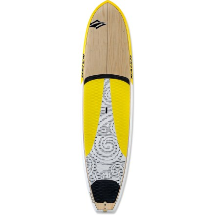 Kayak and Canoe With a board that's equipped for nearly anything, you'll always be ready to enjoy the water. Enter the Naish Nalu GT 10 ft. 10 in. stand up paddleboard. Ridged bottom surface makes the Naish Nalu GT 10 ft. 10 in. board track as well as a much longer board, helping paddlers enjoy maximum efficiency. Lightweight sandwich-wood construction provides a stiff, responsive ride every session. Low rocker encourages straight tracking and increased forward glide. Wide outline and recessed deck in the standing area promote stability. Forward deck has 8 insert holes so you can attach a bungee to secure gear for longer tours. Integrated EVA deckpad provides exceptional grip when surfing and paddling flatwater. Center handle is shaped like a ledge, not just a flat slot with finger holes, letting you get a firm grip by curving your fingers inside the board. The Naish Nalu GT 10 ft. 10 in. stand up paddleboard includes its own board bag, ideal for car topping or toting from your car to the beach. - $1,999.00