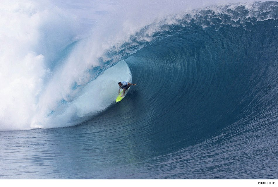 Surf Backside tuberiding has evolved into the art it is today because waves like Teahupoo.