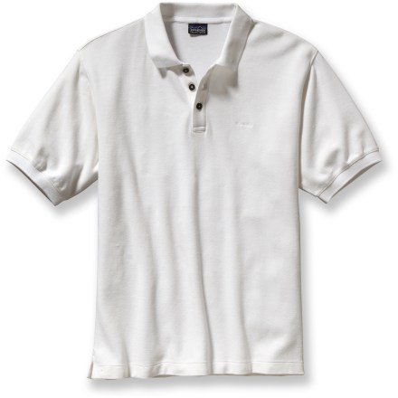 A great shirt for travel, work and road trips, the Patagonia Polo shirt is a classic style for dressing up or dressing down. Made from certified 100% organic cotton for breathable comfort and easy care. 3-button front placket; taped neck. Straight hem with side splits looks great left untucked. Closeout. - $39.73